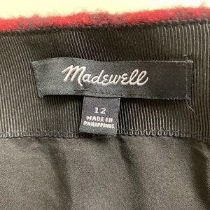 Madewell Skirts - Madewell Mini Straight Skirt Buffalo Check Wool